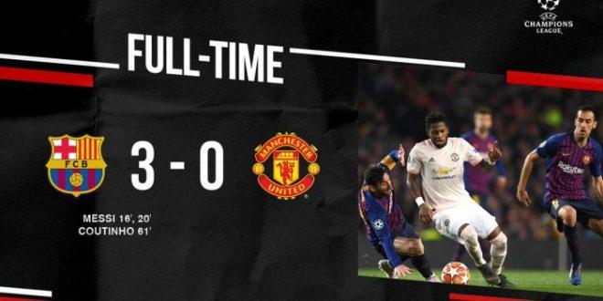 Barcelona vs Manchester United 3-0 (Agg 4-0) - Highlights