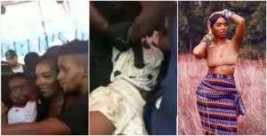 Nigerian Lady Faints While Trying To Snap With Tiwa Savage (Video)