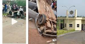 Angry Students Destroy SARS Vehicle In Their Campus (Video)