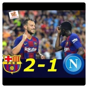 Barcelona vs Napoli 2-1 - Highlights