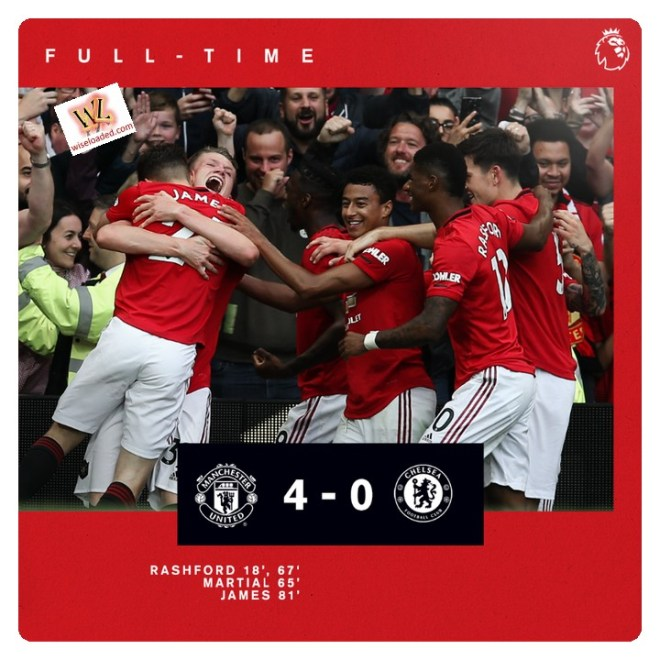 Manchester United vs Chelsea 4-0 Highlights