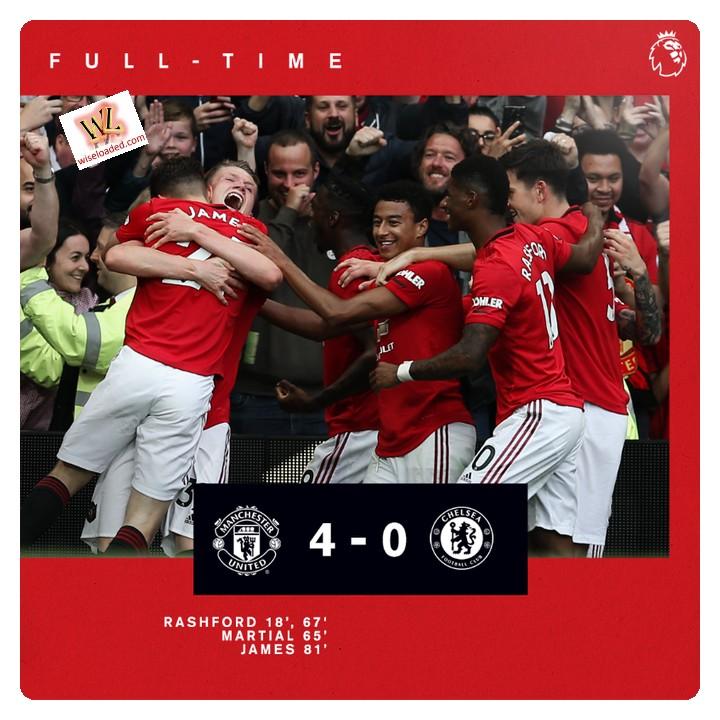 Manchester United vs Chelsea 4-0 Highlights
