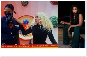 #BBNaija: See What Ike Told Tacha About Mercy (Video)