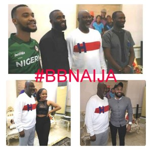 #BBNaija: Dino Melaye Hosts Evicted Housemates (Photos)