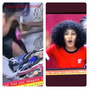 #BBNaija: Ike Play Dirty With Mercy While Trying To Wear Her Pant (Video)