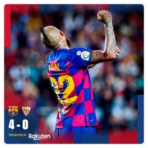 Barcelona vs Sevilla 4-0 Highlights