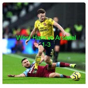 West Ham vs Arsenal 1-3 Highlights (Download Video)