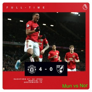 Manchester United vs Norwich 4-0 Highlights