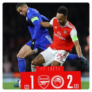 Arsenal vs Olympiacos 1-2 Highlights (Download Video)
