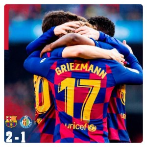 Download Football Video : Barcelona vs Getafe 2-1 Highlight