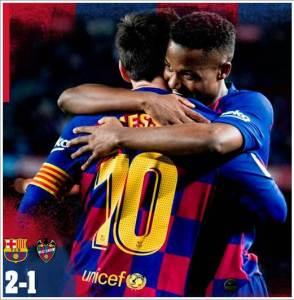 Barcelona vs Levante 2-1 - Highlights Football Video