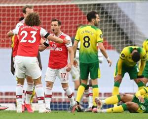 the match between arsenal vs norwich