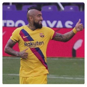 Autoro Vidal score in Valladolid vs Barcelona 0-1 Highlights