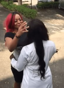 Lovely Moment Lucy And Ka3na Met After House (Video)