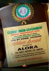 Offa Poly SUG Gives Merit Awards To Alora