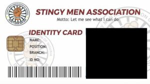 Stingy Men Association ID Card template