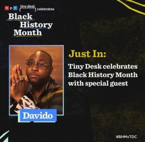 Davido NPR 'Tiny Desk' Home Concert Performance (Video)