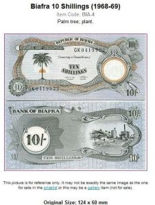Biafra Currency pounds note