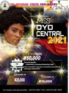 Miss Oyo Central 2021 (Beauty Pageant)