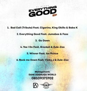 Hi-Speed - Everything Good (EP) Tracklist