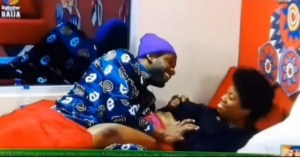 #Bbnaija: Moment Cross Robs And Sucks Angel's Breast (Video)