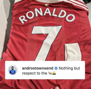 Ronaldo gifted Townsend his shirt for copying his goal celebration