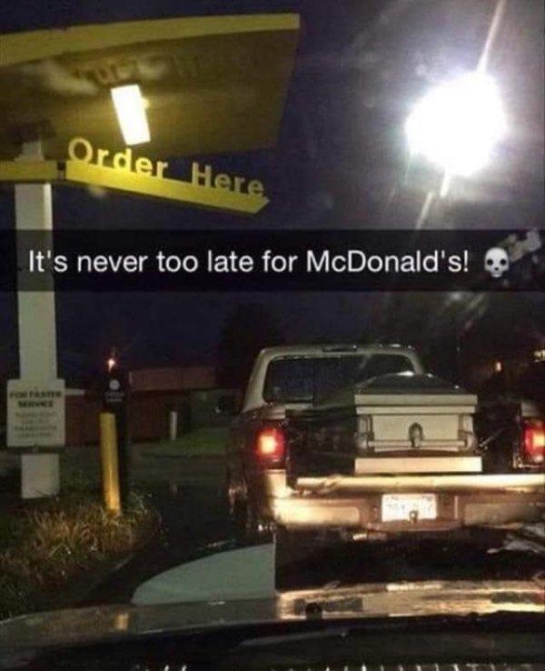 Nunca es mal momento para un McDowel's