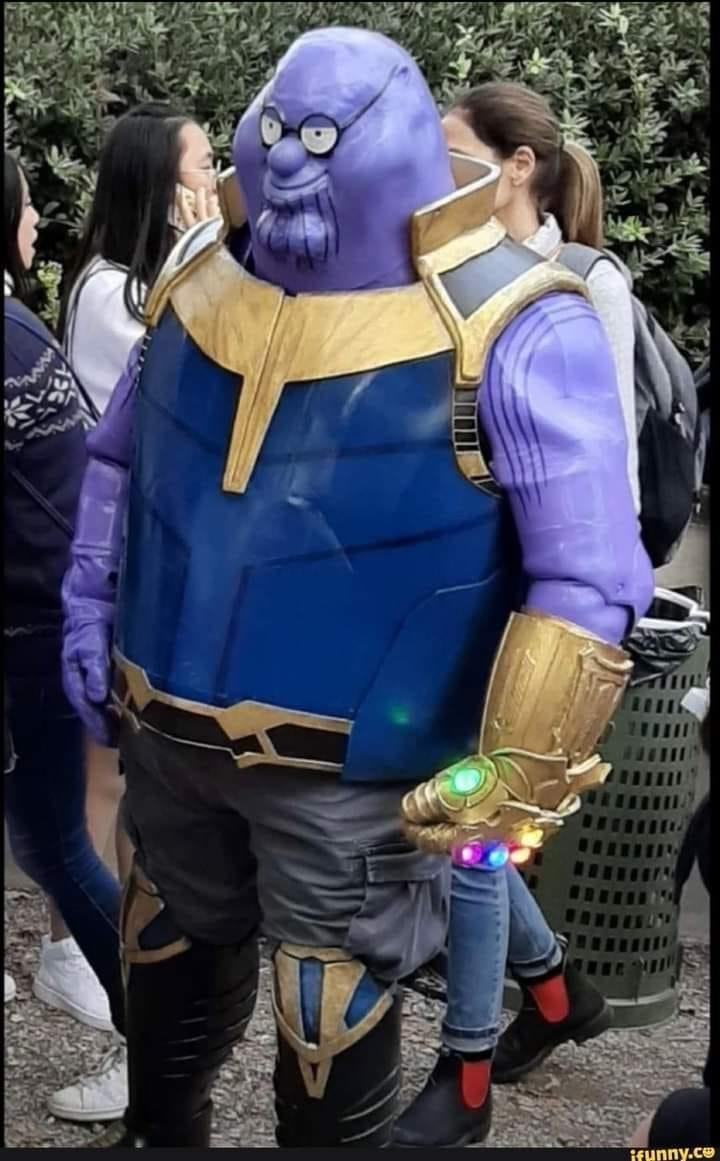 Thanos Griffin cosplay.