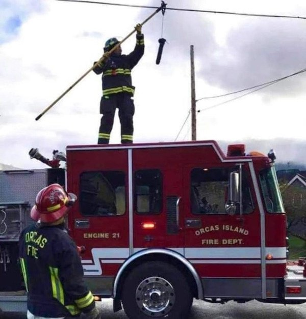 Los bomberos no solo se dedican a apagar incendios…