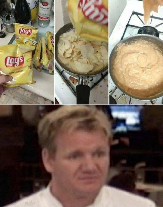 Puré de patatas.
