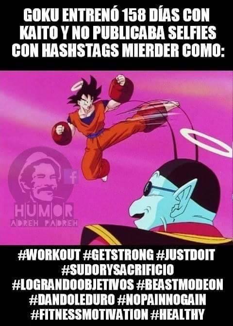 Sé como Goku.