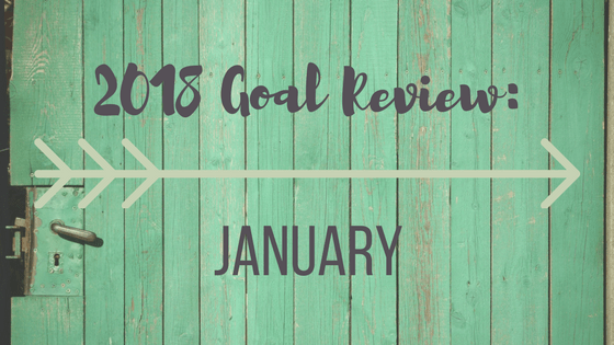 2018 Goal Review: January