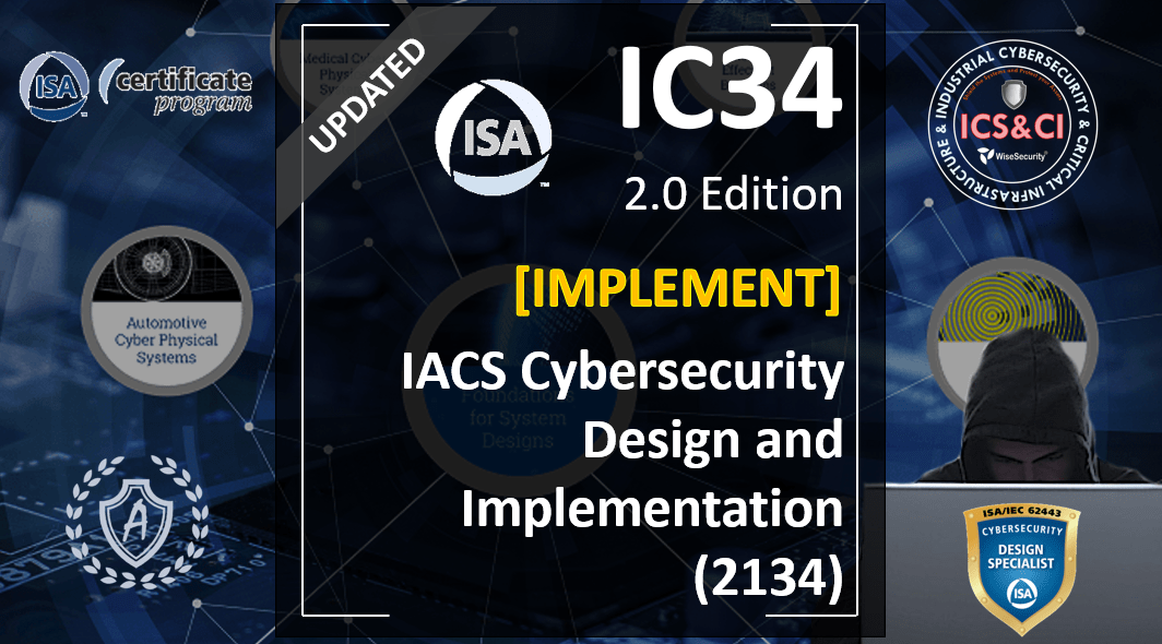 IC34 Course: Design and Implementation of Cybersecurity in New and Existing Industrial Systems, Spanish