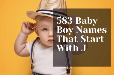 583 Baby Boy Names That Start With J