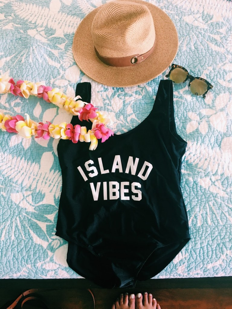 private party island vibes swimsuit