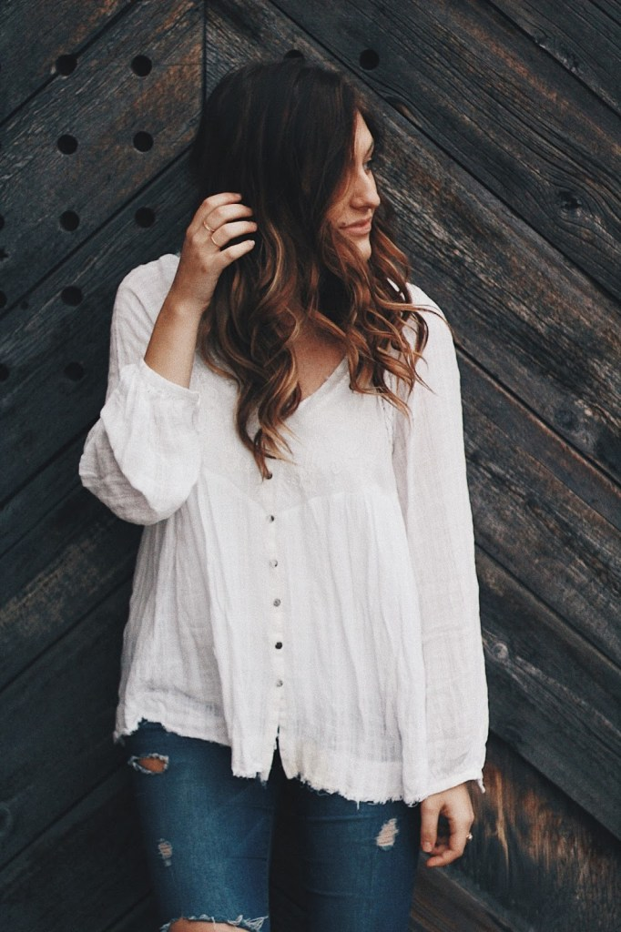 get happy right now free people white peasant blouse