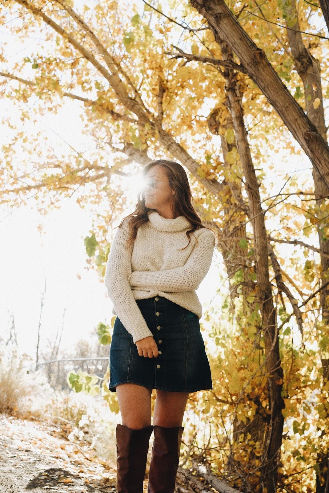 fall golden light portrait mckenzie truman