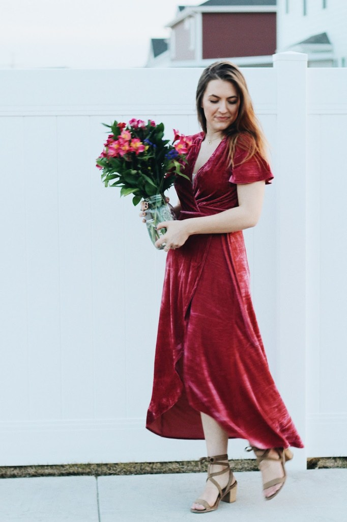 wear for valentine's day dress look bouquet