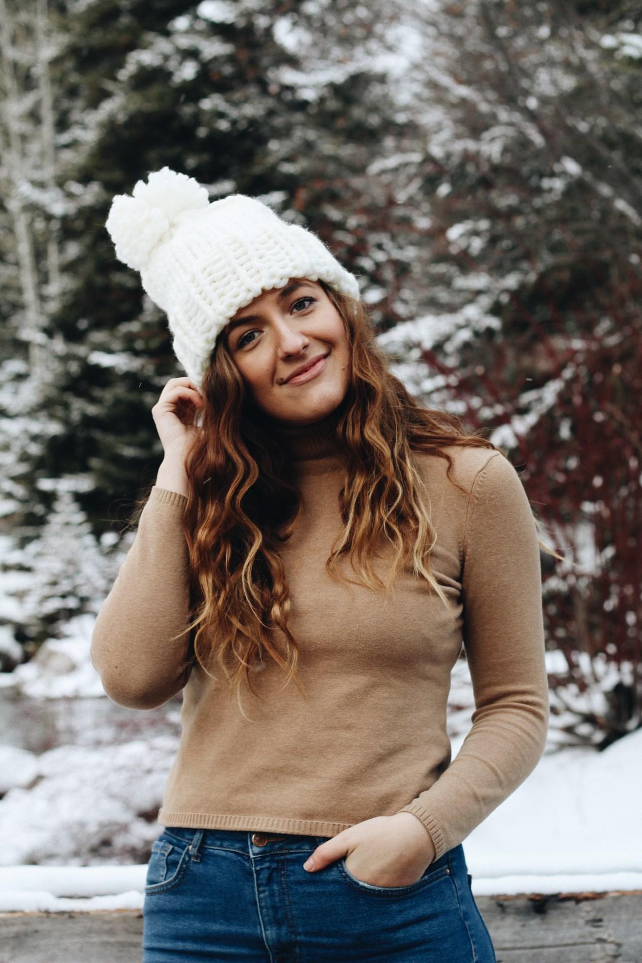 overcome social anxiety winter portrait sundance utah