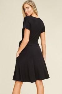 black-wrap-side-tie-midi-dress
