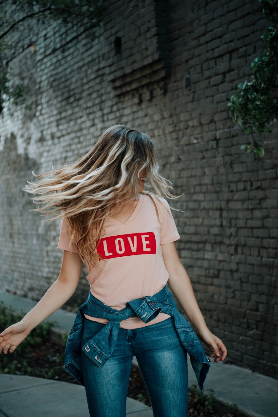 spread love graphic tee