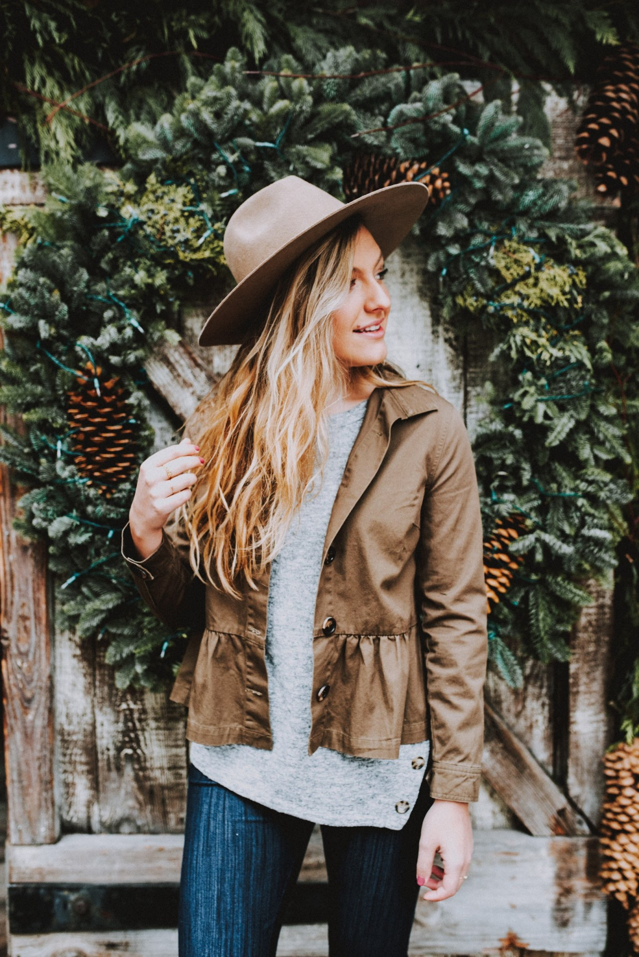 struggle during the holidays winter outfit bohemian