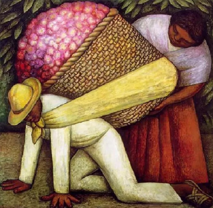 The Flower Carrier diego rivera painting