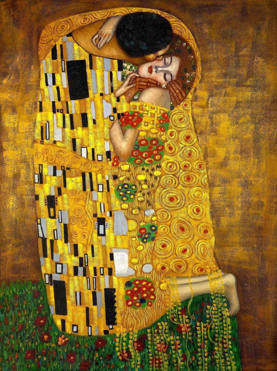 the kiss gustav klimt painting