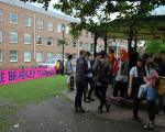 08 pink banner and bandstand