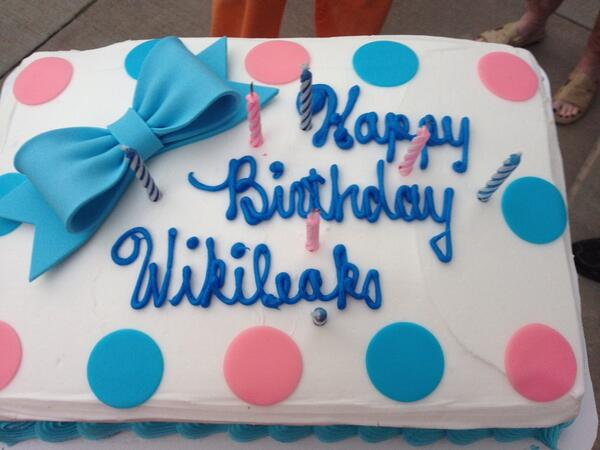 WIKILEAKS 7TH - 6 cake