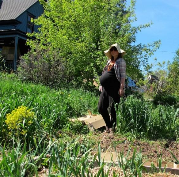 Yolande Clark of New Brunswick June 2014 waiting for her baby