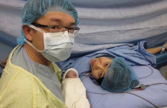 A cesarean is major abdominal surgery