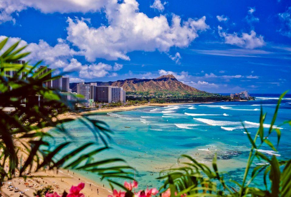 Waikiki Beach and Diamond Head
