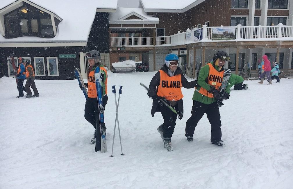 Krista Giannak Blind Skier Vermont Adaptive USABA Group Photo